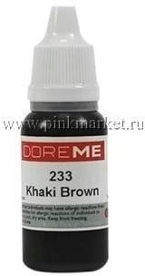 Пигмент для татуажа бровей DOREME 233 KHAKI BROWN