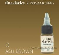 "Пигмент для татуажа бровей ""Tina Davies 'I Love INK' 0 Ash Brown"""