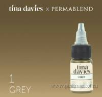 "Пигмент для татуажа бровей ""Tina Davies 'I Love INK' 1 Grey"""