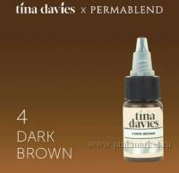 "Пигмент для татуажа бровей ""Tina Davies 'I Love INK' 4 Dark Brown"