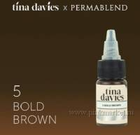 "Пигмент для татуажа бровей ""Tina Davies 'I Love INK' 5 Bold Brown"