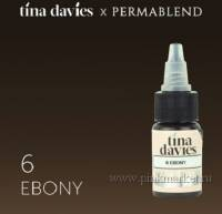 "Пигмент для татуажа бровей ""Tina Davies 'I Love INK' 6 Ebony"