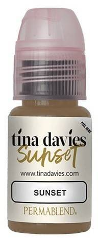 "Пигмент для татуажа бровей ""Tina Davis Sunset"""