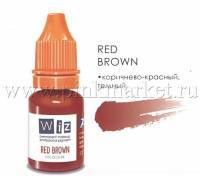 Пигмент для татуажа губ WizArt Red Brown, 10 мл
