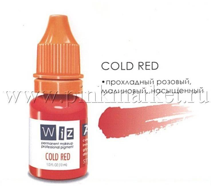 Пигмент для татуажа губ WizArt Cold Red, 10 мл
