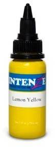 Тату-краска INTENZE LEMON YELLOW (США), 15 мл