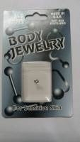 Нострилы Body Jewerly с кристаллом (Белый)