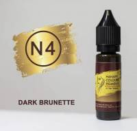 Пигмент для бровей Hanafy Colours Pigments №4 Dark Brunette 15 мл