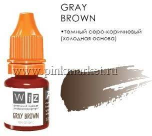 Пигмент для бровей WizArt Gray Brown, 5 мл