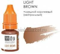 Пигмент для бровей WizArt Light Brown, 5 мл
