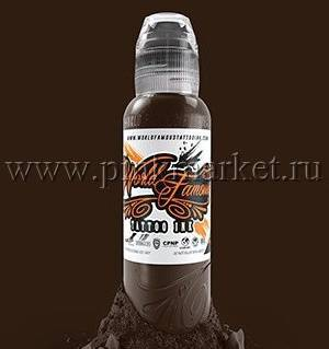 "Тату краска World Famous ""Dark Chocolate"" 15 мл"