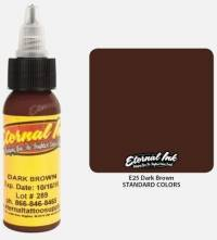 Тату краска Eternal Ink Dark Brown 60 мл