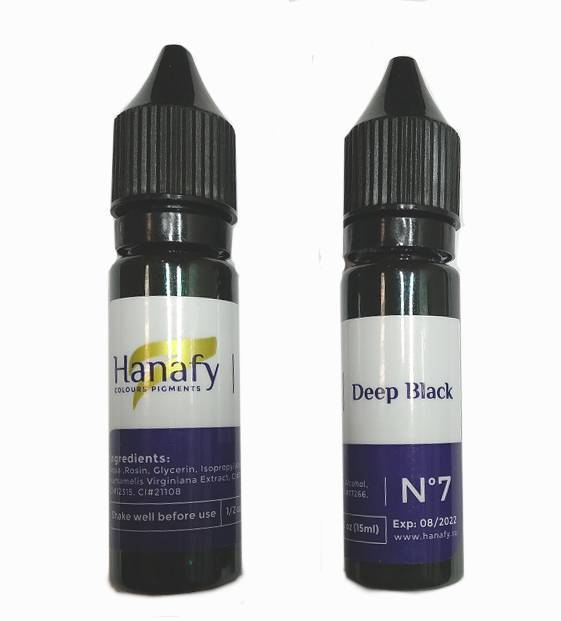 Пигмент для век Hanafy Colours Pigments №7 Deep Black 15 мл
